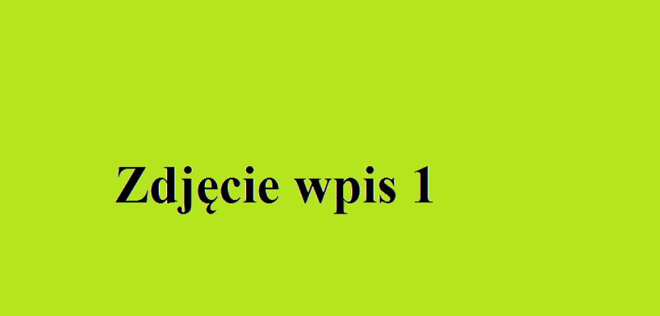 Wpis 1